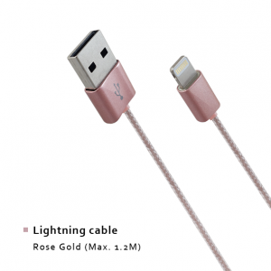 Lightning cable - Rose Gold (Max. 1.2M)