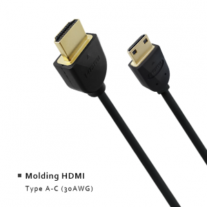 Molding HDMI - Type A-C (30AWG)